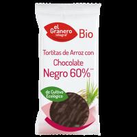 Rice pancakes with black chocolate bio - 6 und