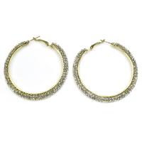 Gold hoops earrings