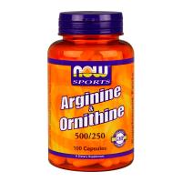 NOW Arginina / Ornitine - 100 Kapseln