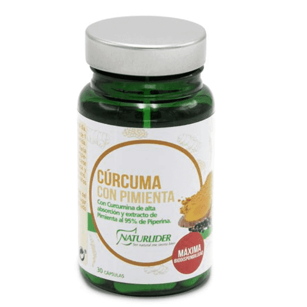 Turmeric with pepper - 30 capsules NaturLíder - 1