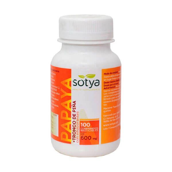 Pineapple trunk papaya 600mg - 100 tablets Sotya Health Supplements - 1