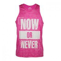 T-shirt tank now or never elastic-dry