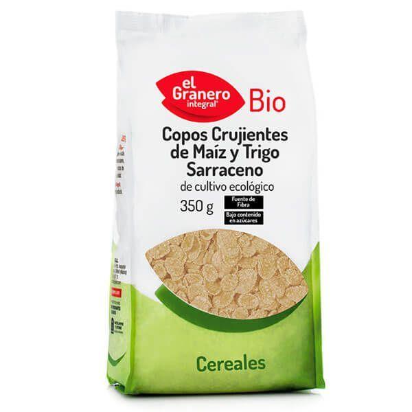 Crunchy flakes of corn and buckwheat bio - 350g
