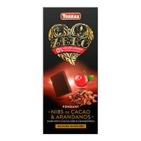 Dark chocolate with cocoa and blueberry nibs - 125g