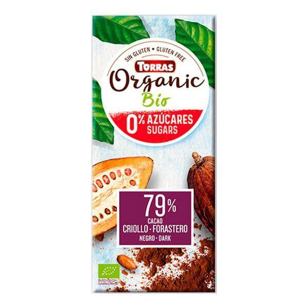 Chocolate 79% criollo forastero cocoa without sugar - 100g