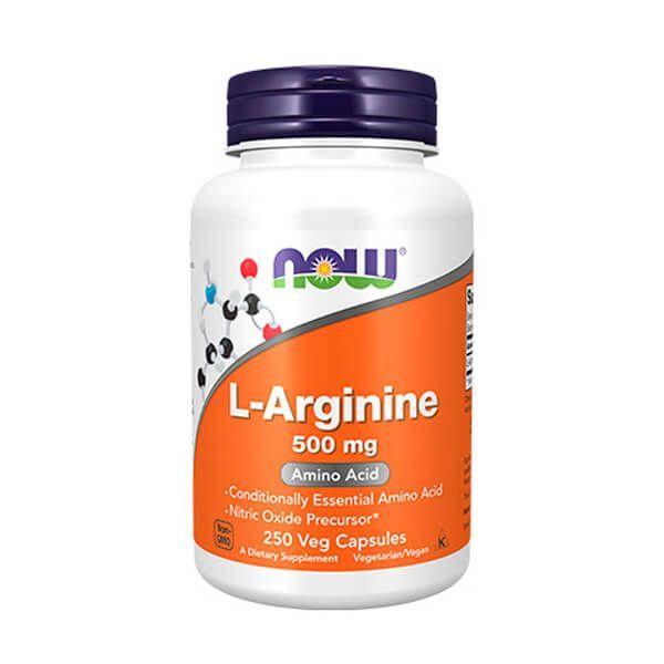 L-arginine 500mg - 250 capsules