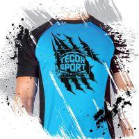 Tegor sport t-shirt blue/black